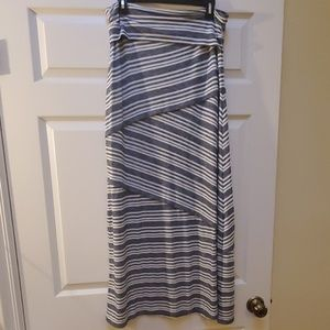 Max Studio blue and white striped maxi skirt slMED